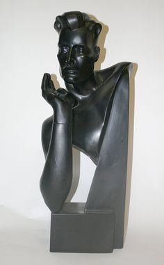 Deco Style Male Mannequin Bust. Model #arts #craft #sewing