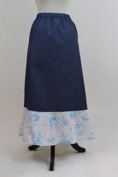 "Woman's Contrast Ruffle Skirt 36""@  Deborah & Co. - Fashion Style Collection"