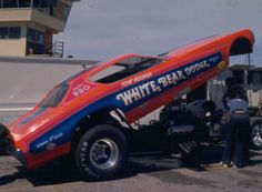 TOM HOOVER and the WHITE BEAR DODGE Charger Funny Car