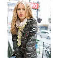 Camouflage Print Cotton Army Jacket