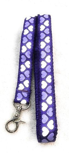 Dog Leash Size S Pet Puppy Pup Attire Clothes Purple White Heart Pattern Design  | eBay