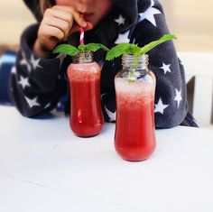 watermelon juice. Delicious, colourful and fresh.  Recipe here: https://www.instagram.com/sanja_sofie/