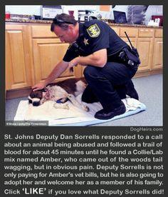 A cop that cares...thank you Deputy Dan Sorrells!