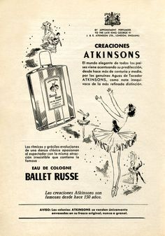 1954 ATKINSONS Ballet Russe fragrance ad, Spain