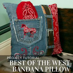 Embrace your inner cowboy or cowgirl with this pillow project from Embroidery Library.