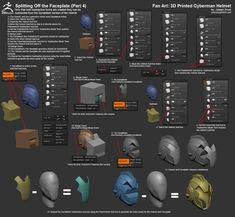 Fan Art: 3D Printed Doctor Who Cyberman Helmet