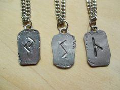 Viking Rune Necklace Norse Rune Persistance Rune Self Confidence Rune Illumination Rune Viking jewelry mens necklace Mens Gift Scandanavian - pinned by pin4etsy.com