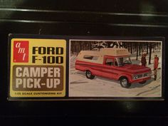 Model kit box art '63 Ford Pickup and Camper.