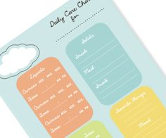 I love Tiny Tales!  Daycare Notepad {clouds} [retail] - $8.00 : Tiny Tales, The Perfect Recipe For Life's Memories