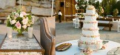 Outdoor lake wedding with vintage furniture #cake #MarieeAmi