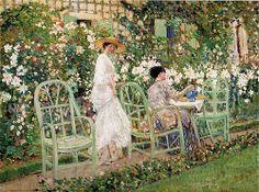 Frederick Carl Frieseke - Ladies in the Garden