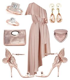 """Sparkling Pink"" by gattusca on Polyvore featuring moda, Zimmermann, Sophia Webster, Donald J Pliner, Too Faced Cosmetics, Valentin Magro e Allurez"