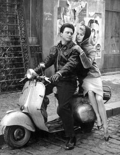 theniftyfifties:  Brigitte Bardot on a Vespa.