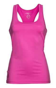 Tank top. Quick dry jersey. Feminine fit. Straight hem. Regular fit. Base #Tank Knockout #Pink #ExerciseCollection