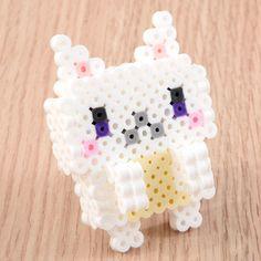Buy cute cat Asami Nagasaki's Perler Bead Cat Trio Pixel Beads, 3d Perler Bead, Diy Perler Beads, Pearler Beads, Melty Bead Patterns, Perler Patterns, Beading Patterns, Bead Crafts, Diy And Crafts