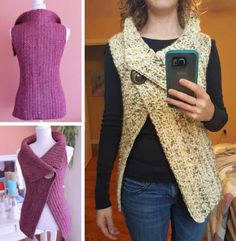 Crochet Peekaboo Button Wrap