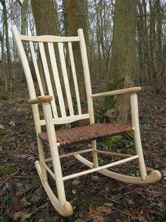 Ash rocking chair at Forest Garden Shovelstrode, Sussex