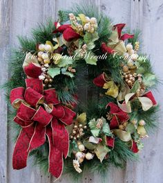 Christmas Wreath, Holiday Wreath, Williamsburg, Colonial Christmas, Designer Christmas Wreath, Elegant Holiday Décor on Etsy, $239.00