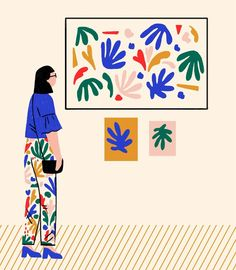 "Abbey Lossing (@abbey_lossing) on Instagram: ""Matisse inspired pattern & figure ‍"""