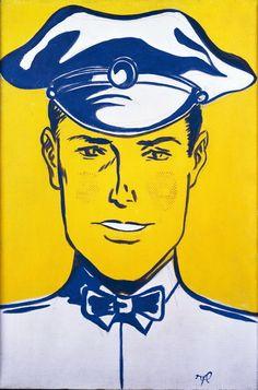 Roy Lichtenstein, Gas Station Attendant, 1961