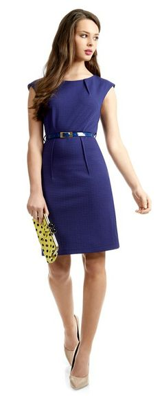 Make this simple, elegant dress a little bit playful by adding this lime spot clutch. Peplum Dress, Lime, Dresses For Work, Range, Clothes For Women, Elegant, My Style, Clothing, Model