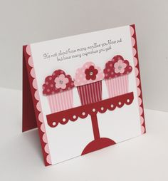 Stamps: Create a Cupcake (Stampin' Up) --- Punches: Cupcake Builder (Stampin' Up); Threading Water (Fiskars)