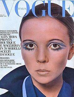 Penelope Tree, photo by David Bailey, Vogue Italia, February 1969 Retro Makeup, Vintage Makeup, Vintage Beauty, 1960s Makeup, Eye Makeup, Fashion Models, Vogue Models, Colleen Corby, Pinup