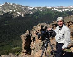 """Nick Mollé films on Trail Ridge Road in Rocky Mountain National Park for the film, """"The Living Dream."""""""