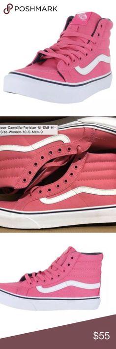 3267ad9e96e Vans Pink Rose Camellia Parisian Ni Sk8-Hi Slim Vans Pink Rose Camellia  Parisian Ni