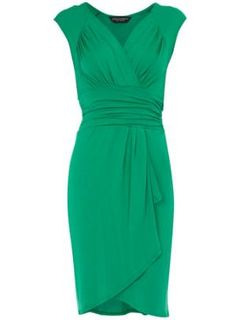 Green waterfall jersey dress - View All New In - What's New - Dorothy Perkins