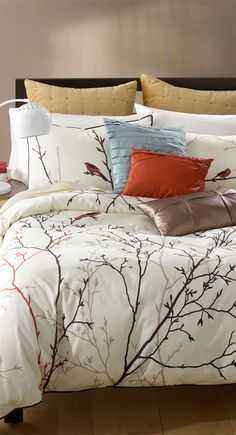 painterly bird duvet cover u0026 sham love this light but pretty perhaps a tad to feminine making my house a home pinterest duvet bird and bedrooms
