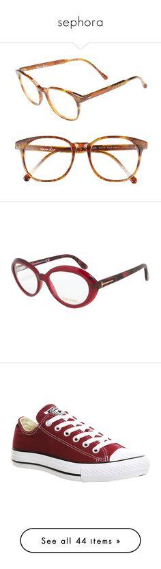 """sephora"" by lu-sa ❤ liked on Polyvore featuring accessories, eyewear, eyeglasses, glasses, brown heather, round glasses, retro glasses, retro eyeglasses, round eyeglasses and steven alan"