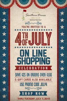 Ak-Chin Southern Dunes Golf Club invites you to a 4th of July online shopping celebration where you save $25 on orders over $100.