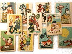 Vintage Japanese Card Game UtaGaruta  1955 by VintageFromJapan, $45.00
