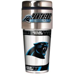 NFL Carolina Panthers Metallic Travel Tumbler, Stainless Steel & Vinyl, 16 Ounce #GreatAmericanProducts #CarolinaPanthers