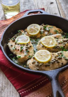 Easy Weeknight Chicken Piccata, ready in less than 30 Minutes! This recipe is Low Carb, low calorie, gluten free, dairy free and can be made Paleo too!