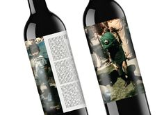 Photos of owner's children on wine's label
