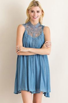 Right Above Lace Mock Dress