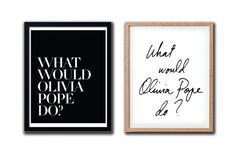 What Would Olivia Pope Do PRINTABLE FILE  2 styles/6 by Dantell