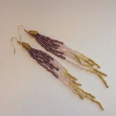 Lavender Ombré Earrings by PhyreAndWillow on Etsy