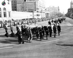 image shows the casket of former U.S. President Kennedy during funeral procession in Washington (The state funeral of John F. Kennedy, 35th President of the United States, took place in Washington, D.C. during the three days that followed his assassination on Friday, November 22, 1963, in Dallas, Texas) RIP★★★★RIP  Date November 25, 1963 http://en.wikipedia.org/wiki/State_funeral_of_John_F._Kennedy