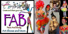 FAB Art Shows and More are open to the public events where face and body painters paint live models and also sell their handmade art. Irma Cardona 321-695-5060 www.FabArtShowsandMore.com