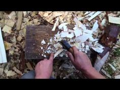 Hand Carving A Wooden Spoon From Log to Spoon - YouTube