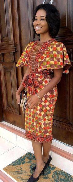 Beautiful ready-to-wear fashion outfit, African fashion, Ankara, kitenge, African women's dresse African Fashion Ankara, Ghanaian Fashion, Latest African Fashion Dresses, African Dresses For Women, African Print Dresses, African Print Fashion, Africa Fashion, African Attire, African Prints