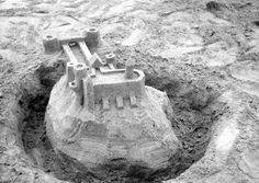 Sand castle.  The balcony was a bit tricky.
