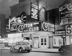 """The Cotton Club was a famous jazz music night club located in the Harlem neighborhood of New York City which operated from 1923 to 1940.The club was a white-only establishment even though it featured many of the greatest African American entertainers of the era including Fletcher Henderson, Duke Ellington, Adelaide Hall, Count Basie, Bessie Smith, Cab Calloway, The Nicholas Brothers, Lottie Gee, Ella Fitzgerald, Fats Waller, Louis Armstrong, Dizzy Gillespie,Nat King Cole, Billie Holiday,"