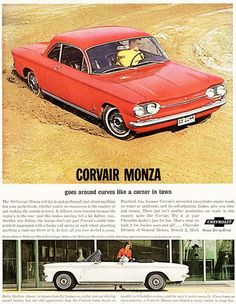 1963 Chevrolet Corvair Monza - Promotional Advertising Poster