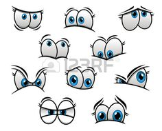 Cartoon Faces Expressions, Eye Expressions, Ocicat, Human Icon, Cartoon Eyes, Cartoon Drawings, Big Blue Eyes, Different Emotions, Comic Styles