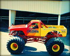 Gary Wiggins at the wheel Monster Truck Madness, Monster Mud, Monster Trucks, Cool Trucks, Big Trucks, Chevy Trucks, Truck And Tractor Pull, Tractor Pulling, Monster Truck Birthday