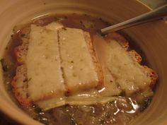 Culinary Adventures with Camilla: Onion Soup with Melted Gruyère